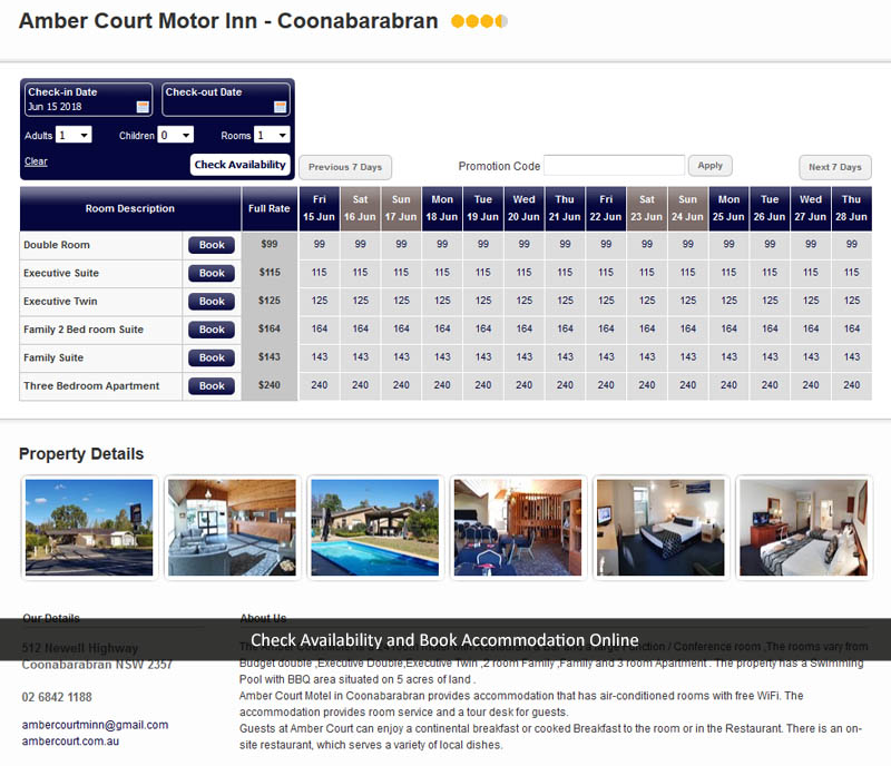 Book Accommodation online at Amber Court Motor Inn - Coonabarabran